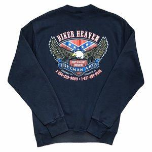 Vintage Biker Sweatshirt Men's Medium Unisex